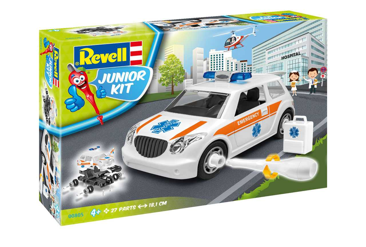 Auto Junior Kit záchranka - Revell 00805