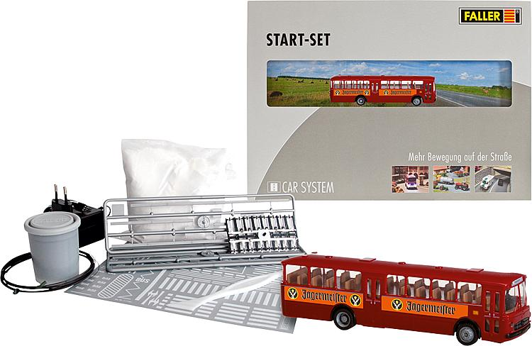 Car system Start set s autobusem 1:87 H0 - Faller 161498