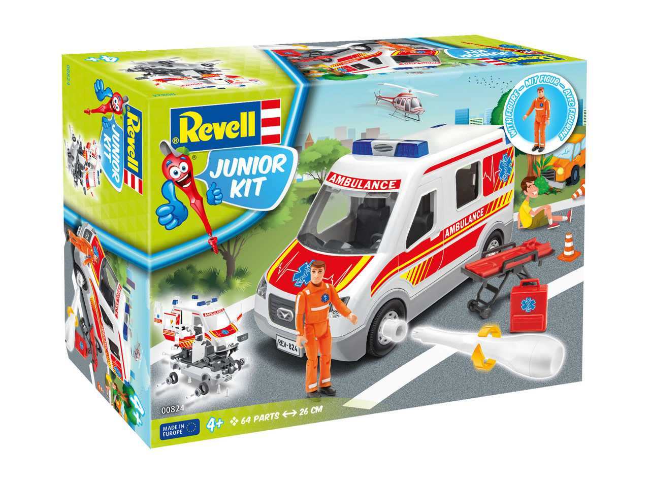 Auto Junior Kit sanitka s figurkou - Revell 00824