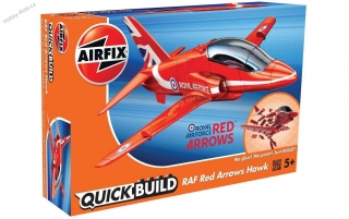 Zacvakávací model RAF Red Arrows Hawk - Airfix J6018